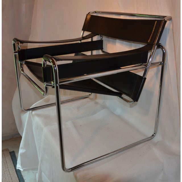 Mid-Century Modern Vintage Wassily Chair, in the Style of Marcel Breuer For Sale - Image 3 of 11