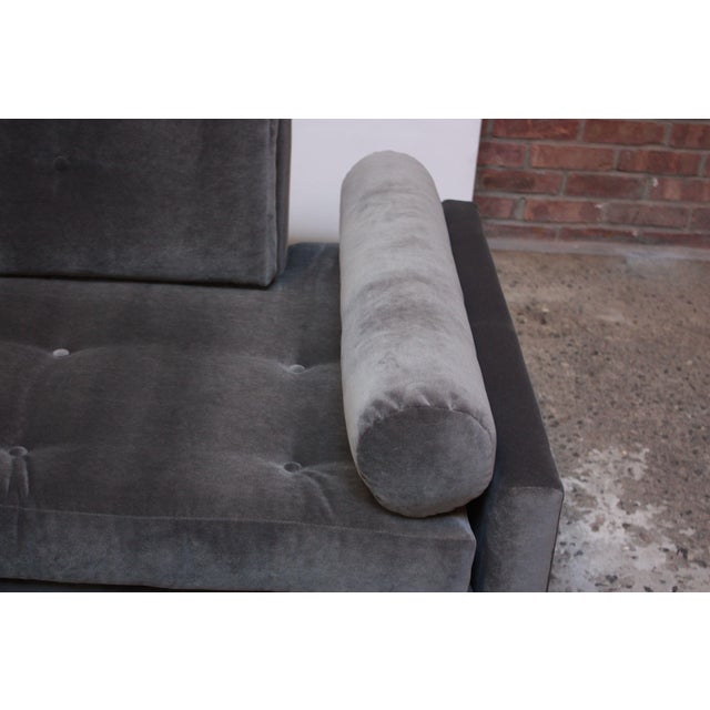 Adrian Pearsall for Craft Associates 'Gondola' Sofa in Walnut and Velvet For Sale - Image 11 of 13