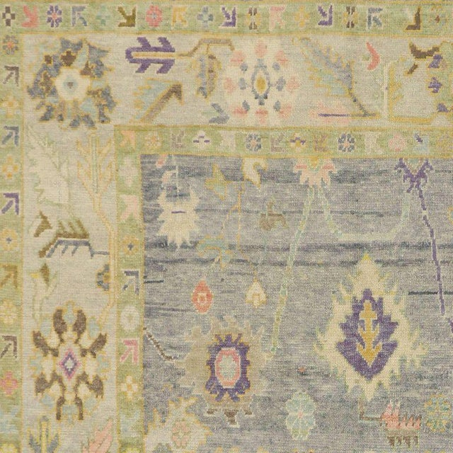 Contemporary Turkish Oushak Rug in Pastel Colors with Tribal Boho Chic Style For Sale - Image 5 of 9
