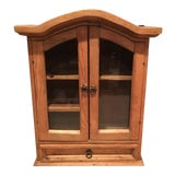 Image of Rustic Pine Southwestern Cabinet For Sale