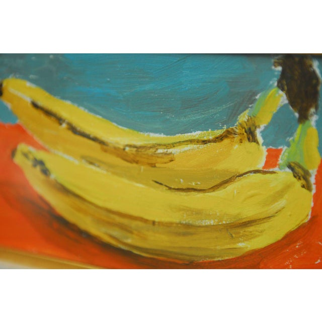 Andy Warhol Style Banana Oil Painting - Image 3 of 9