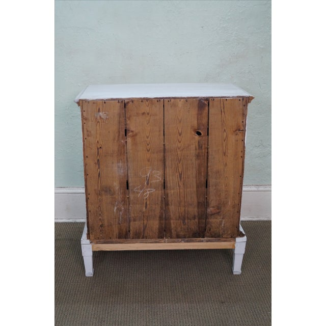 Antique Swedish Pine Distressed Commode Chest - Image 4 of 10