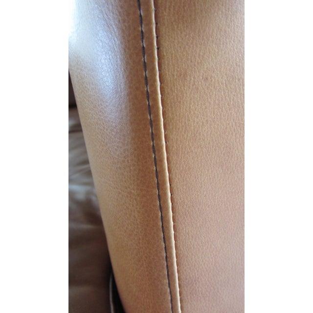 Custom Saddle Leather Sectional & Ottoman - Image 6 of 11