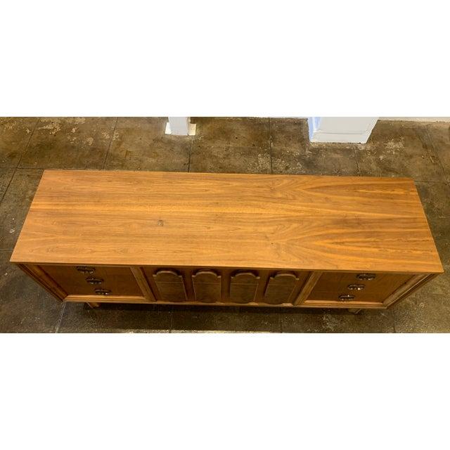 Mid Century Modern - Custom 1960's Burl Wood Dresser For Sale - Image 9 of 11