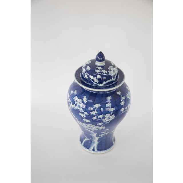 Blue & White Cherry Blossom Temple Jars - A Pair - Image 6 of 9
