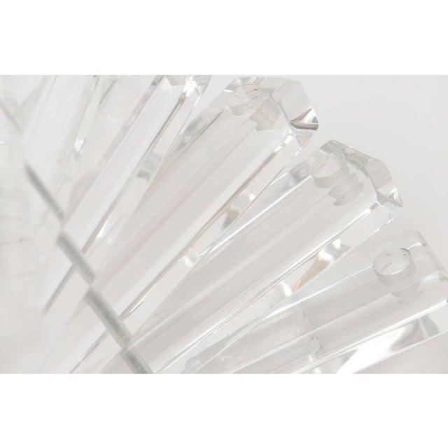 """Lucite Vintage"""" Spiral Staircase"""" Sculptural 12 Light Candelabra For Sale - Image 10 of 11"""