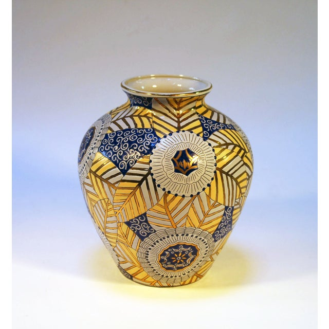 Chinese Gold, Blue and White Vase - Image 5 of 7