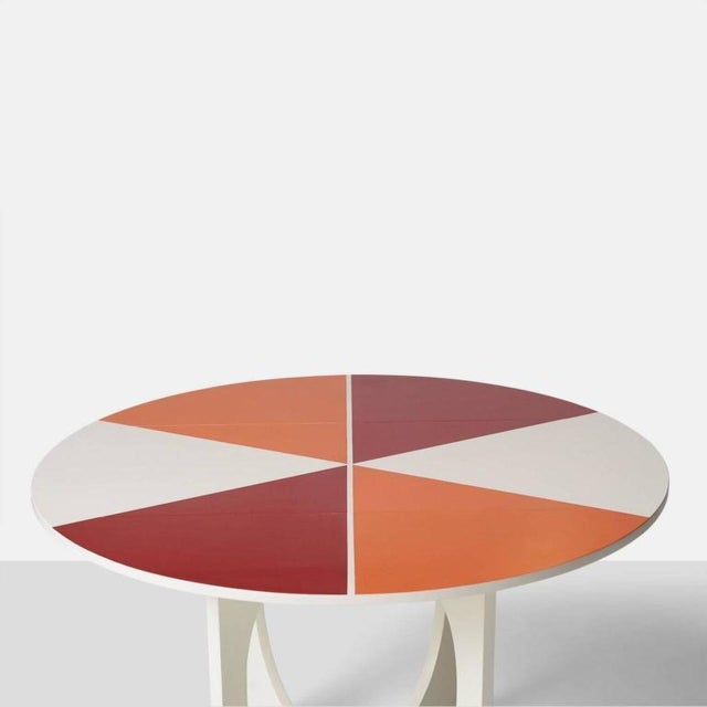Red Gio Ponti Drop Leaf Apta Table For Sale - Image 8 of 9