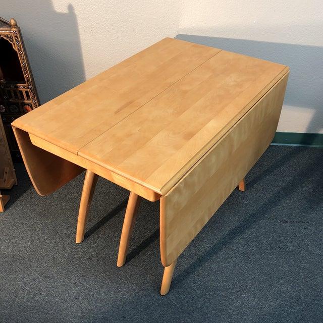 Heywood-Wakefield Drop Leaf Dining Table - Image 6 of 11
