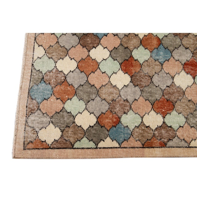 Vintage Turkish Scatter Wool Rug 4 X 8 For Sale In New York - Image 6 of 13