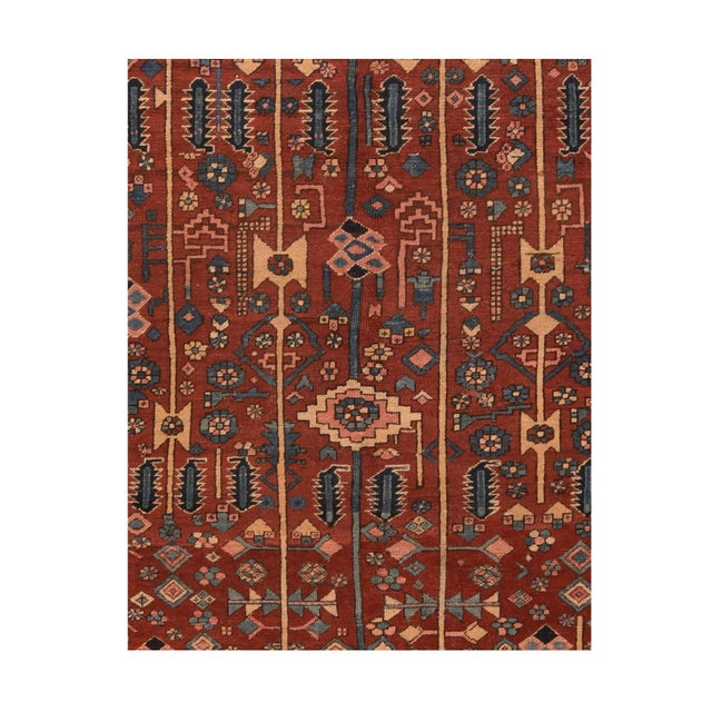 Hand-Knotted Persian Heriz Wool 9'1'' x 11'2''