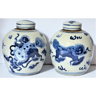 Chinoiserie Ginger Jars With Lions - a Pair Preview
