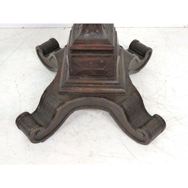 Antique Italian Carved Puttis on Pedestals - Pair - Image 6 of 9
