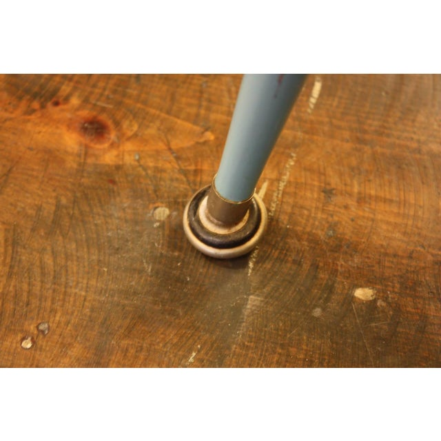 1950s French Laminated Plywood and Steel Adjustable Table - Image 8 of 10
