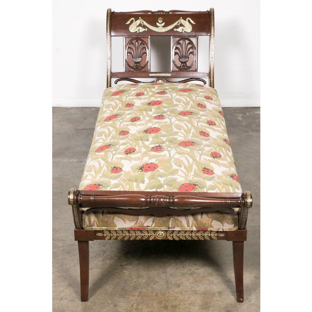 Empire Early 19th Century French Empire Period Mahogany Lit De Repos Chaise Longue For Sale - Image 3 of 11