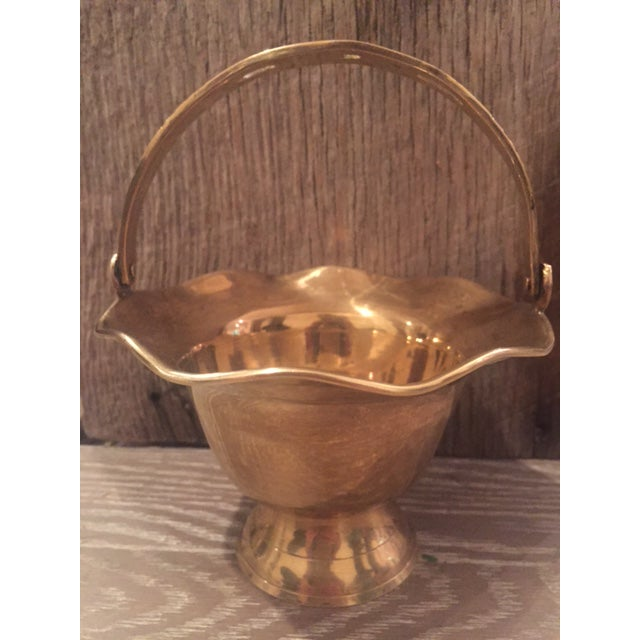 Vintage Brass Vase Bowl & Chamber Stick - Set of 3 - Image 3 of 9