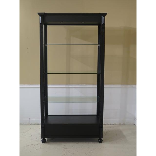 Black Black Lighted Open Display Curio Shelf For Sale - Image 8 of 8