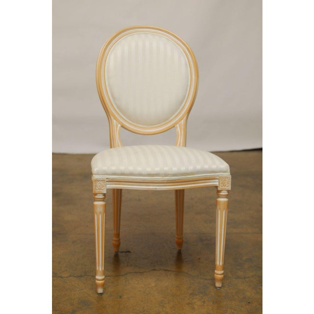 Louis XVI Dining Chairs - Set of 4 - Image 5 of 9