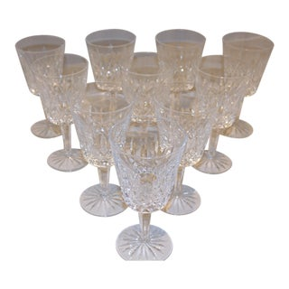 Lismore by Waterford Water Goblets - Set of 10 For Sale