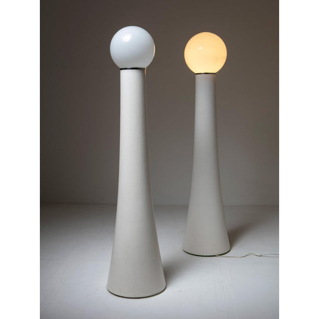 """Annig Sarian Set of Two Floor Lamps """"Kd59"""" by Annig Sarian for Kartell For Sale - Image 4 of 4"""