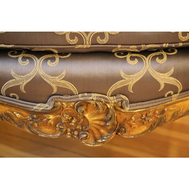 Rococo Style Bergère Chair For Sale In Boston - Image 6 of 7