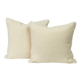Lush Medium Snow Throw Pillow Cover (Pair) For Sale