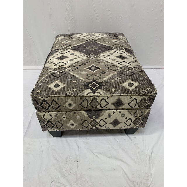 Late 20th Century Late 20th Century Grey-tone Ottoman For Sale - Image 5 of 10