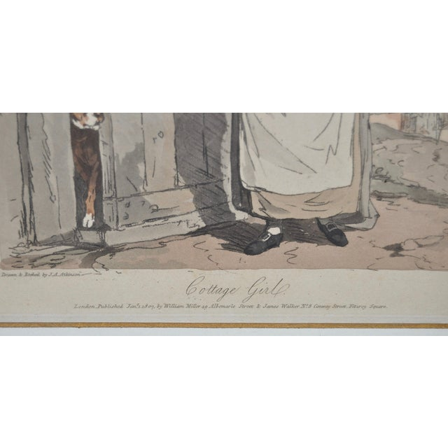 Cottage Girl Hand Colored Engraving C.1807 For Sale - Image 10 of 11