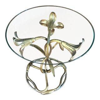 Gilded Tulip Side Table