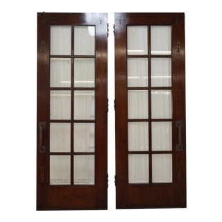 Vintage Mahogany Double French Doors - a Pair