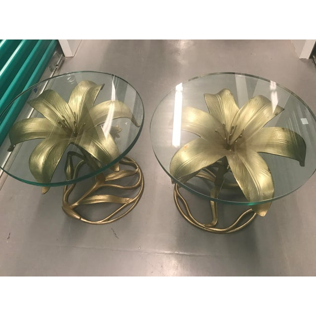 Arthur Court Lily Side Tables - A Pair For Sale In Washington DC - Image 6 of 6