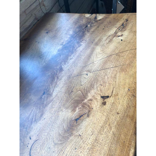 Northern Italian 19th Century Walnut Trestle Table For Sale - Image 10 of 11