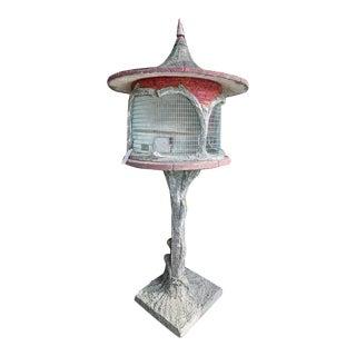 Antique Cast Stone Bird House