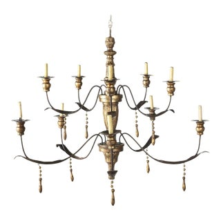 Niermann Weeks Italian Baroque Style 12 Light Chandelier For Sale
