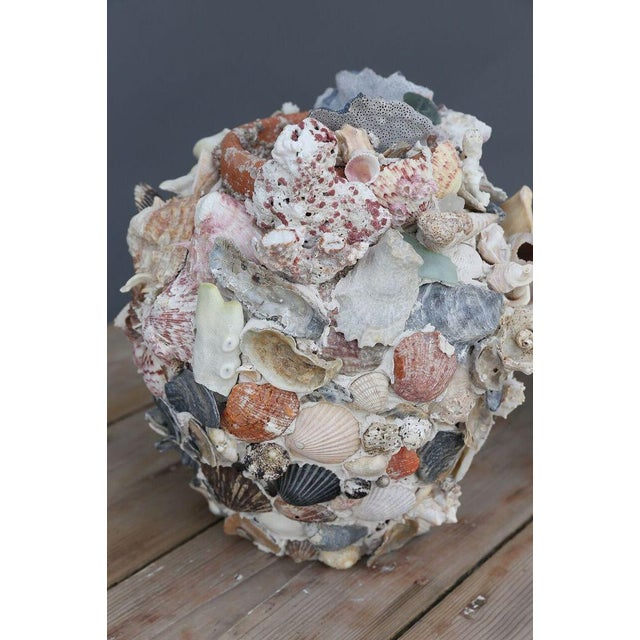 Ceramic Shell-Covered Terracotta Cache-Pots For Sale - Image 7 of 9