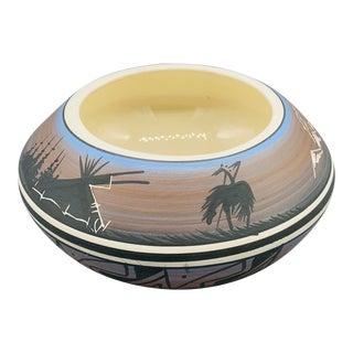 Vintage 1970s J. Skovy Signed Navajo Pottery Vase For Sale