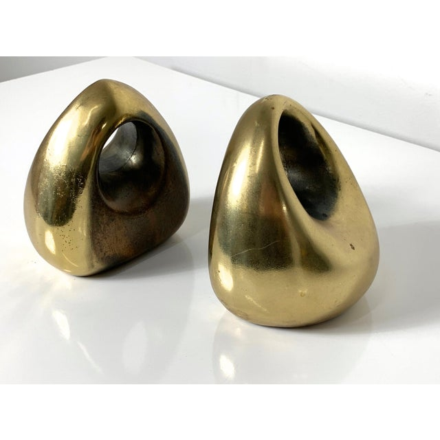 Metal 1960's Ben Seibel Brass Orb Bookends - a Pair For Sale - Image 7 of 10