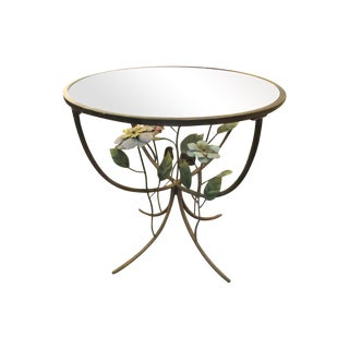 Lovely French Round Patinated Metal Bistro Table