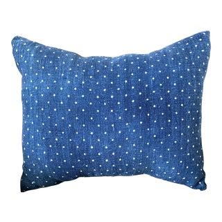 European Indigo Grainsack Pillow Cover For Sale