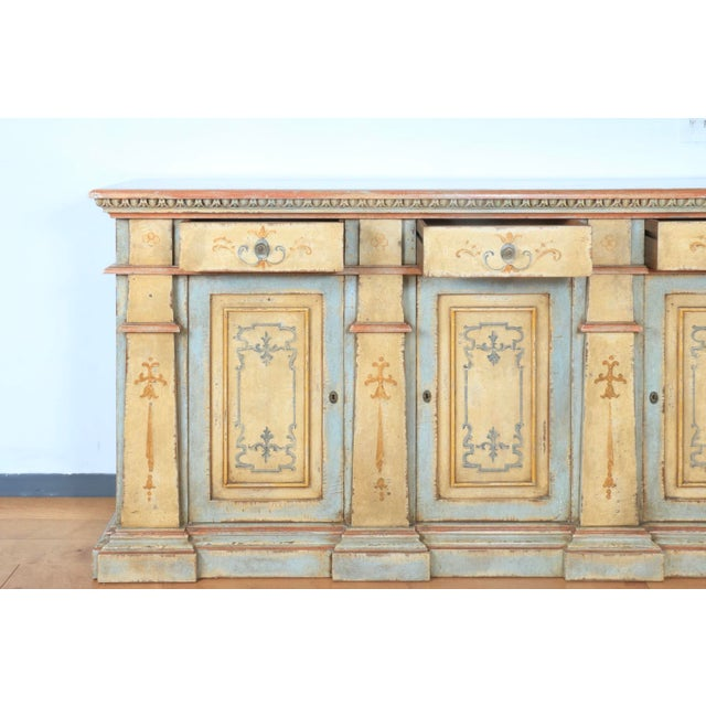 Italian 1970s Hand Painted Italian Cabinet For Sale - Image 3 of 13