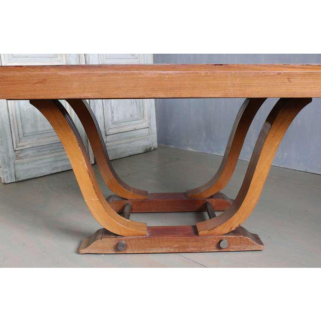 French 1940s Art Deco Style Rosewood Dining Table - Image 3 of 9
