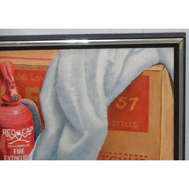 """Realism John T. Axton III (1922-2009) """"Work Bench"""" Original Realism Still Life Oil Painting For Sale - Image 3 of 8"""