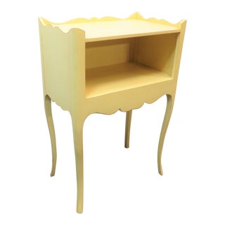 Late 20th Century Louis XV Style Yellow Nightstand For Sale