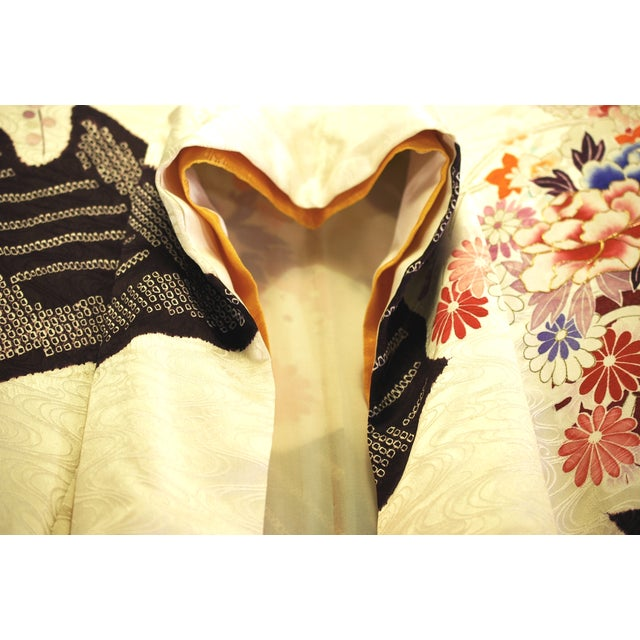 Vintage Silk Traditional Furisode Kimono - Image 6 of 9