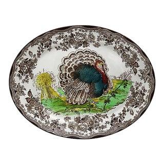 Midcentury English Royal Staffordshire Style Turkey Platter