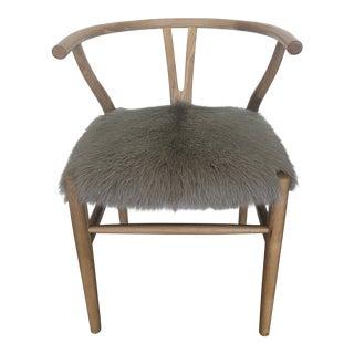 Mid-Century Modern HD Buttercup Fur Accent Chair