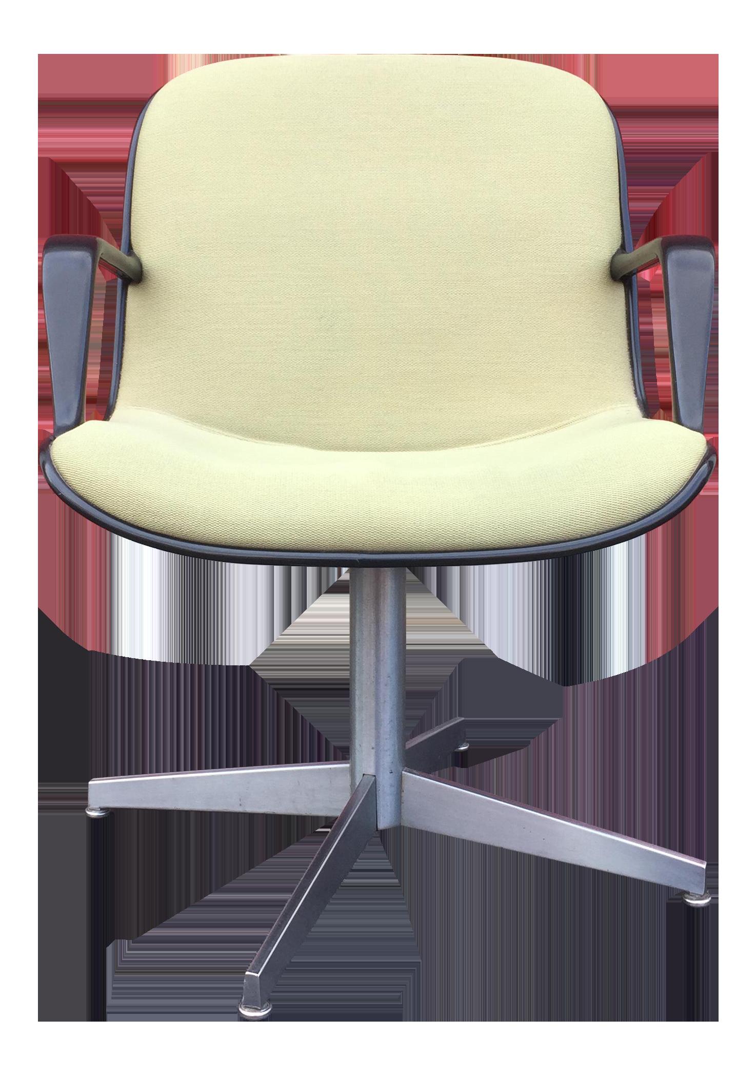 Steelcase Mid Century Modern Swivel Desk Chair For Sale