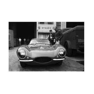 Steve McQueen and his XK-SS Jaguar with director John Sturges 1960 For Sale