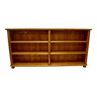 Long Pine Double Bookcase For Sale