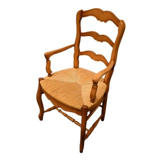 Ethan Allen Ladder Back Arm Chair For Sale
